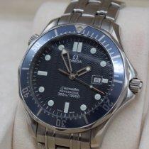 Omega Seamaster Diver 300 M Stal 41mm Niebieski Bez cyfr