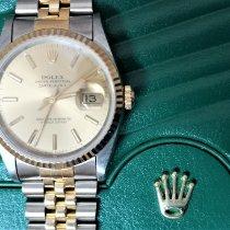 Rolex Datejust Золото/Cталь 36mm Цвета шампань