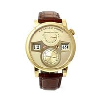 A. Lange & Söhne Yellow gold Manual winding Silver Arabic numerals 41,9mm pre-owned Zeitwerk
