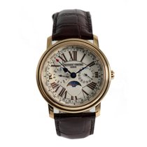 Frederique Constant Classics Business Timer pre-owned 40mm Moon phase Leather