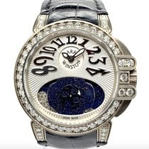 Harry Winston pre-owned Automatic 36mm Silver Sapphire crystal 10 ATM