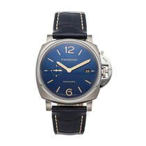 Panerai Luminor Due Titanio 42mm Azul Árabes