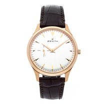 Zenith Elite Ultra Thin Rose gold 40mm Silver No numerals United States of America, Pennsylvania, Bala Cynwyd