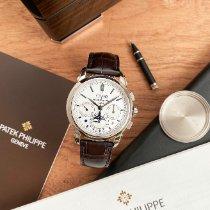 Patek Philippe Perpetual Calendar Chronograph Witgoud 41mm Zilver Geen cijfers