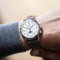 Patek Philippe Perpetual Calendar Chronograph Or blanc 41mm Argent Sans chiffres Belgique, Ghent