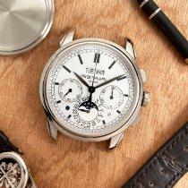 Patek Philippe Perpetual Calendar Chronograph Or blanc 41mm Argent Sans chiffres