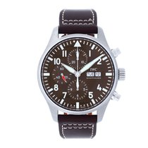 IWC Pilot Chronograph Acier 43mm Brun Arabes