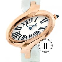Cartier Délices de Cartier Rose gold 39mm Silver Roman numerals
