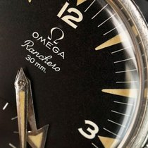 Omega Steel 36mm Black Arabic numerals