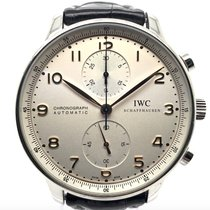 IWC Portuguese Chronograph Steel 40.9mm Silver Arabic numerals United States of America, New York, New York