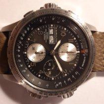 Hamilton Khaki X-Wind rabljen 44mm Crn Kronograf Datum, nadnevak Sedmicni pokazivac Koza
