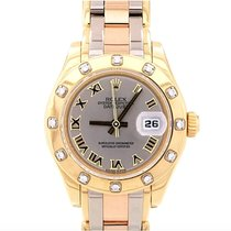 Rolex Lady-Datejust Pearlmaster Yellow gold 29mm Silver Roman numerals United States of America, New York, New York