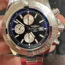 Breitling Super Avenger II pre-owned 48mm Black Chronograph Date Steel