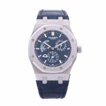Audemars Piguet Royal Oak Dual Time Steel 39mm Blue No numerals United States of America, California, Beverly Hills