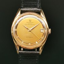 Universal Genève Red gold 34mm Automatic universal polerouter date pre-owned Singapore, Singapore
