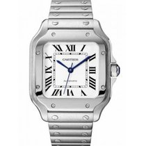 Cartier Santos (submodel) Stahl 35mm Silber