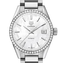 TAG Heuer Carrera Lady Staal 36mm Parelmoer Geen cijfers