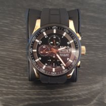 Mido Multifort Chronograph Steel 44mm Black Roman numerals