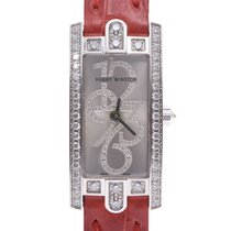Harry Winston Avenue pre-owned 15mm Silver Leather