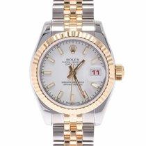 Rolex Lady-Datejust Aur galben 25mm Alb