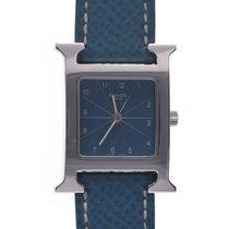 Hermès Heure H Stahl 21mm Blau