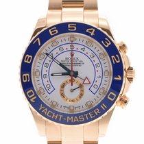 Rolex Yacht-Master II Oro amarillo 42mm Blanco