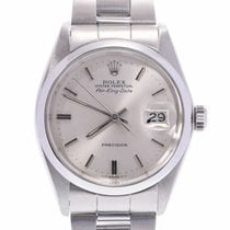 Rolex Steel Automatic Silver 33mm pre-owned Air King Date