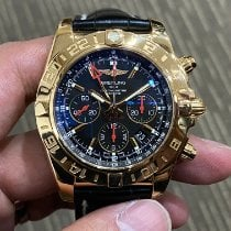 Breitling Chronomat 44 GMT Roségold Schwarz