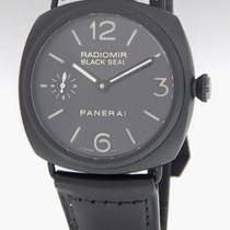 Panerai Manual winding Black 45mm pre-owned Radiomir Black Seal