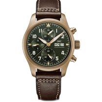 IWC Pilot Spitfire Chronograph Μπρούντζος 41mm Πράσινο