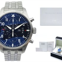 IWC Pilot Chronograph Steel 43mm Black Arabic numerals