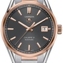 TAG Heuer Carrera Calibre 5 Gold/Steel 39mm Grey No numerals