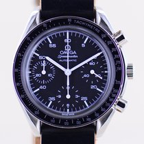 Omega Speedmaster Reduced pre-owned 39.1mm Black Chronograph Tachymeter Leather