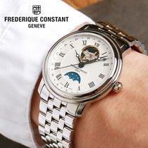 Frederique Constant FC-335MC4P6B2 Steel, Moon Phase, Open Heart, Breguet hands 2020 new