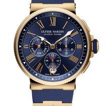 Ulysse Nardin Yellow gold Automatic Blue 43mm new Marine Chronograph