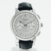 Glashütte Original Senator Chronograph XL Steel 44mm Silver No numerals