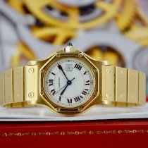 Cartier Santos (submodel) Gelbgold 30mm Weiß Römisch
