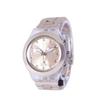 Swatch pre-owned Quartz 43.1mm Pink Mineral Glass 3 ATM