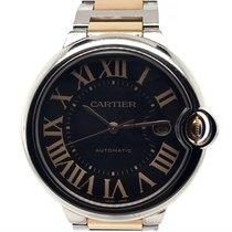Cartier Ballon Bleu 42mm pre-owned 42mm Brown Date Gold/Steel