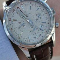 Breitling Transocean Chronograph GMT Acero 43mm Plata Sin cifras