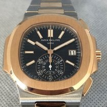 Patek Philippe Nautilus 5980/1AR-001 Very good Gold/Steel 40.5mm Automatic