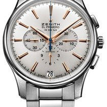 Zenith Captain Chronograph Steel 42mm Silver