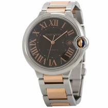 Cartier Ballon Bleu 42mm Steel 42mm Brown
