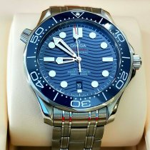 Omega Seamaster Diver 300 M Staal 42mm Blauw Geen cijfers