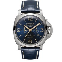 Panerai Luminor 1950 8 Days GMT new Manual winding Watch with original box and original papers PAM 670