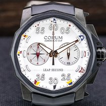Corum Admiral's Cup Leap Second 48 pre-owned 48mm White Chronograph Rubber