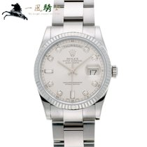 Rolex Day-Date 36 Or blanc 36mm Argent