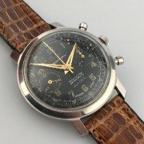 Cabestan Stal 38mm Manualny Black dial Chronograph używany