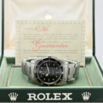 Rolex Submariner (No Date) Otel 37mm Negru Fara cifre