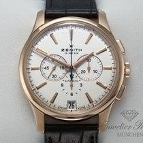 Zenith Captain Chronograph occasion 42mm Argent Chronographe Date Cuir